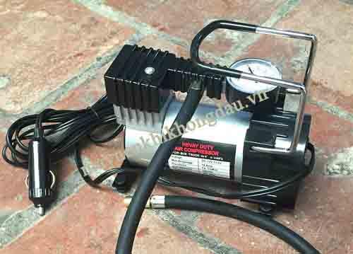 Máy bơm hơi khí nén mini 12v dùng điện 1 chiều 12v