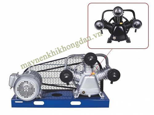 3 đầu nén giúp máy nén khí Palada cung cấp khí nén ổn định với áp suất cao