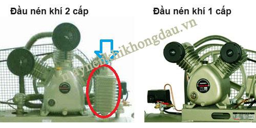Phân biệt giữa máy ensn khí piston cấp 1 câp 2 dựa vào đầu nén khí