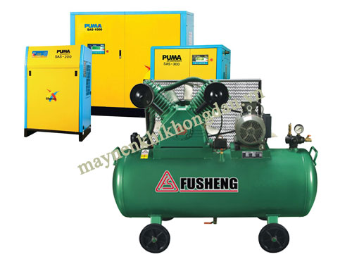 Máy nén khí Fusheng và Puma được sử dụng trong nhiều ngành nghề