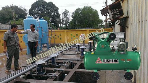 Máy nén khí là thiết bị được ứng dụng trong hệ thống xử lý nước thải